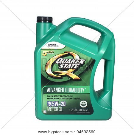 Quaker State Oil Container