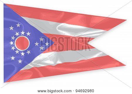 Ohio State Silk Flag