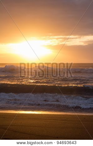 ocean sunset , beach and sun