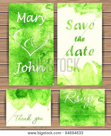Wedding Vector Card Templates.