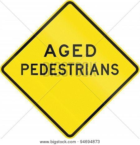 Aged Pedestrians In Australia