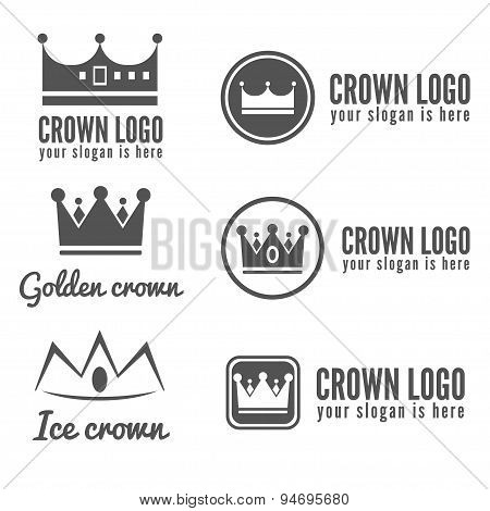 Set of logo, labels, badges, emblems or logotype elements for jewelry, web, business corporate ident