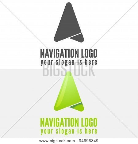 Logo, badge, label, emblem or logotype elements for navigation, map, web, business compass and other