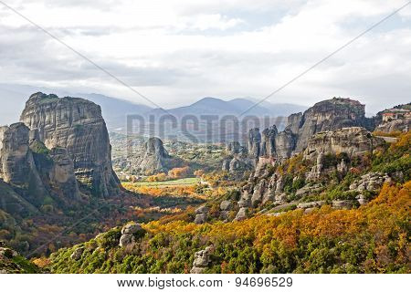 Meteora Rocks And Monasteries In Greece
