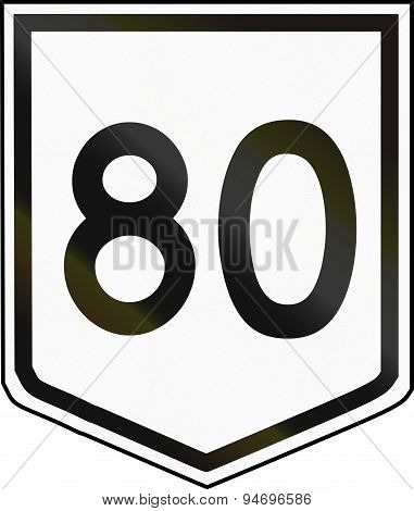 Australian National Route Shield 80