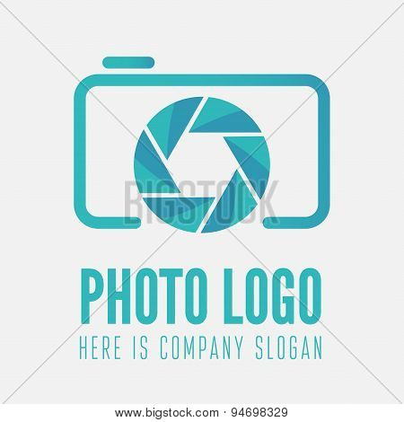 Logo, label, sticker and logotype element for photo studio or photographer