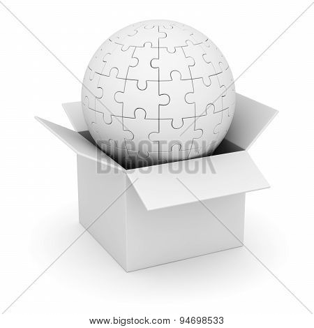 White Box And Sphere Puzzle