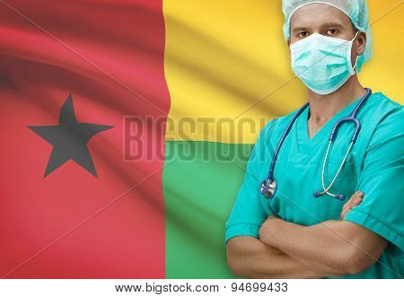 Surgeon With Flag On Background Series - Guinea-bissau