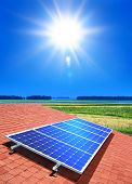 stock photo of solar battery  - solar - JPG