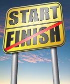 foto of start over  - start finish   - JPG