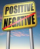 image of positive negative  - positive or negative optimism or pessimism bright side of life positivity and no negativity - JPG