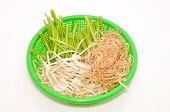 stock photo of laxatives  - Basket of Vietnamese herbs on a white background - JPG