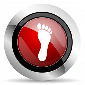 image of webbed feet white  - foot red glossy web icon original modern design for web and mobile app on white background  - JPG