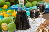 image of home remedy  - Green walnut alcohol cocktail - JPG