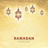 pic of ramadan calligraphy  - traditional lantern of Ramadan - JPG