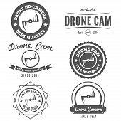foto of drone  - Set of logo - JPG