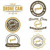image of drone  - Set of logo - JPG