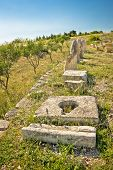 pic of legion  - Stone artifacts of ancient town of Asseria in Croatia - JPG
