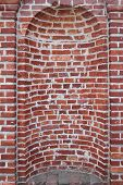 picture of niche  - Old Red Brick Aged Building Wall Niche - JPG
