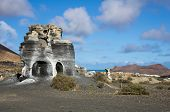 image of volcanic  - Volcanic landscape of the island of Lanzarote Canary Islands Spain - JPG