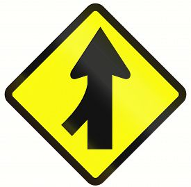pic of merge  - Indonesian road warning sign - JPG