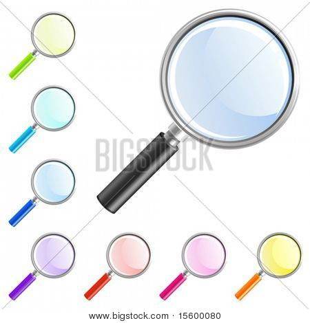 vector magnifier icon