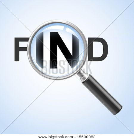 find concept ( vector illustration)