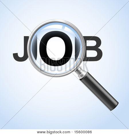 """ look for a job"" concept"