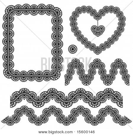 vector lace elements ( set 5 )