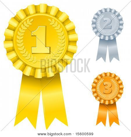 vector illustration of 1st; 2nd; 3rd awards (only gradients)