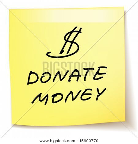 donate money paper note