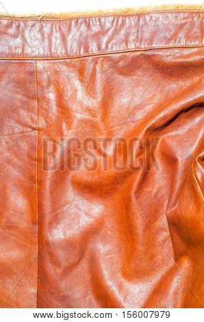 Leather Jacket Texture, Background With Decorative Stripes.