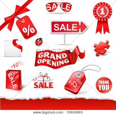 red sale set ( vecor icons)