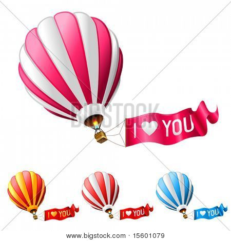i love you hot air balloon sign