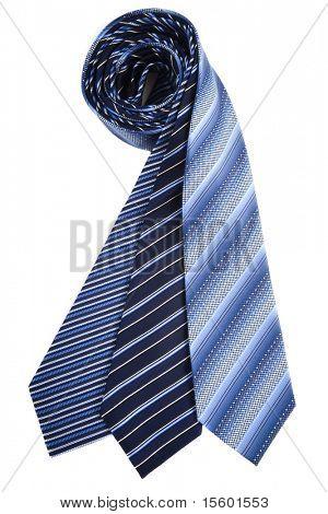 Blue silk ties