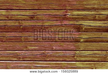 Weathered Color Log House Wall.