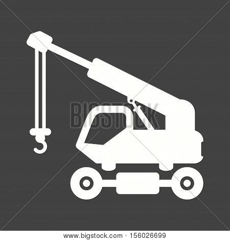 Crane, lift, truck icon vector image. Can also be used for Industrial Process. Suitable for mobile apps, web apps and print media.