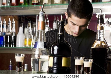 Young barman