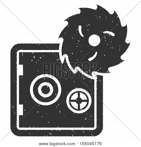 Hacking Theft rubber seal stamp watermark. Icon vector symbol with grunge design and unclean texture. Scratched gray ink emblem on a white background.