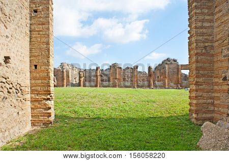 The archaeological site of Pompeii is one of the most popular attractions in Campania Italy.