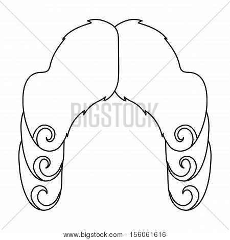 Judges wig icon in outline style isolated on white background. Hats symbol vector illustration.