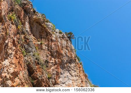 Cliffs on the steep west coast of Mallorca.