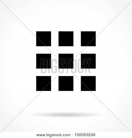 Illustration of squares icon on white background