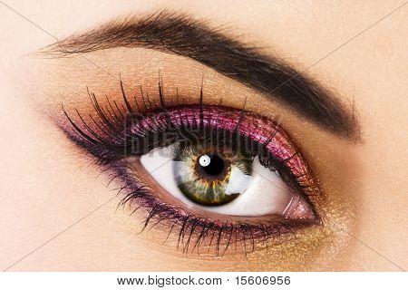 Mulher bonito olho