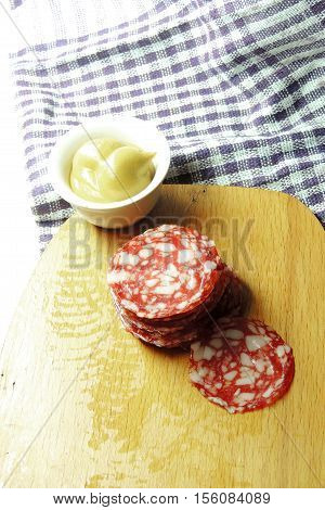 Dry Sausage Cut In Slices