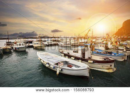 beautiful scenic of capri island port important traveling destination in south italy and mediterranean sea