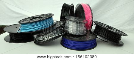 3d printing filament spools in different colours