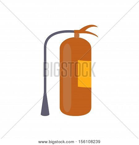 Fire extinguisher in modern flat design. Danger info, protection emergency, red fire extinguishers isolated on white background. Vector eps10