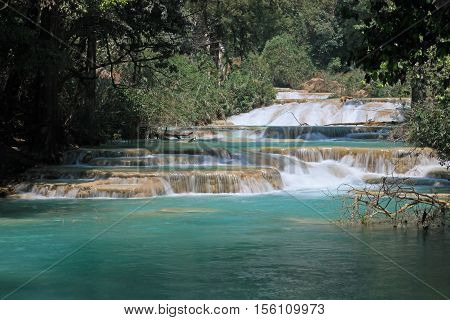The Agua Azul waterfalls in Chiapas, Mexico