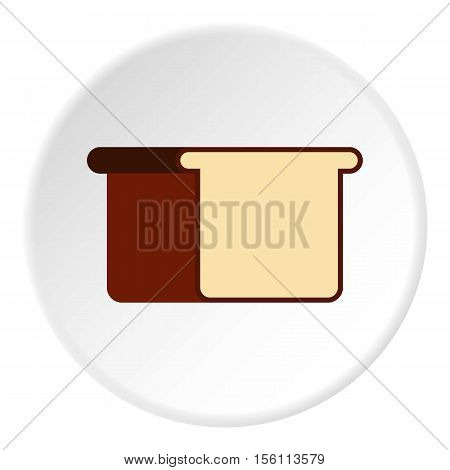 Toast bread icon. Flat illustration of toast bread vector icon for web